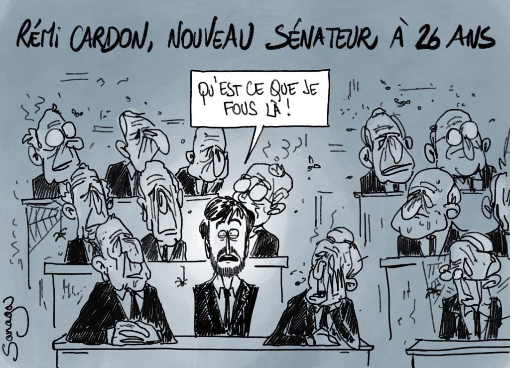 dessin presse humour Sénat sénateur image drôle Rémi Cardon
