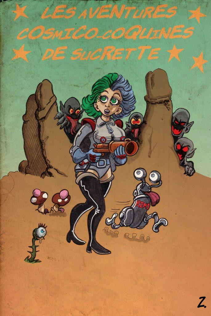 dessin humour Sucrette sexe image drôle science-fiction