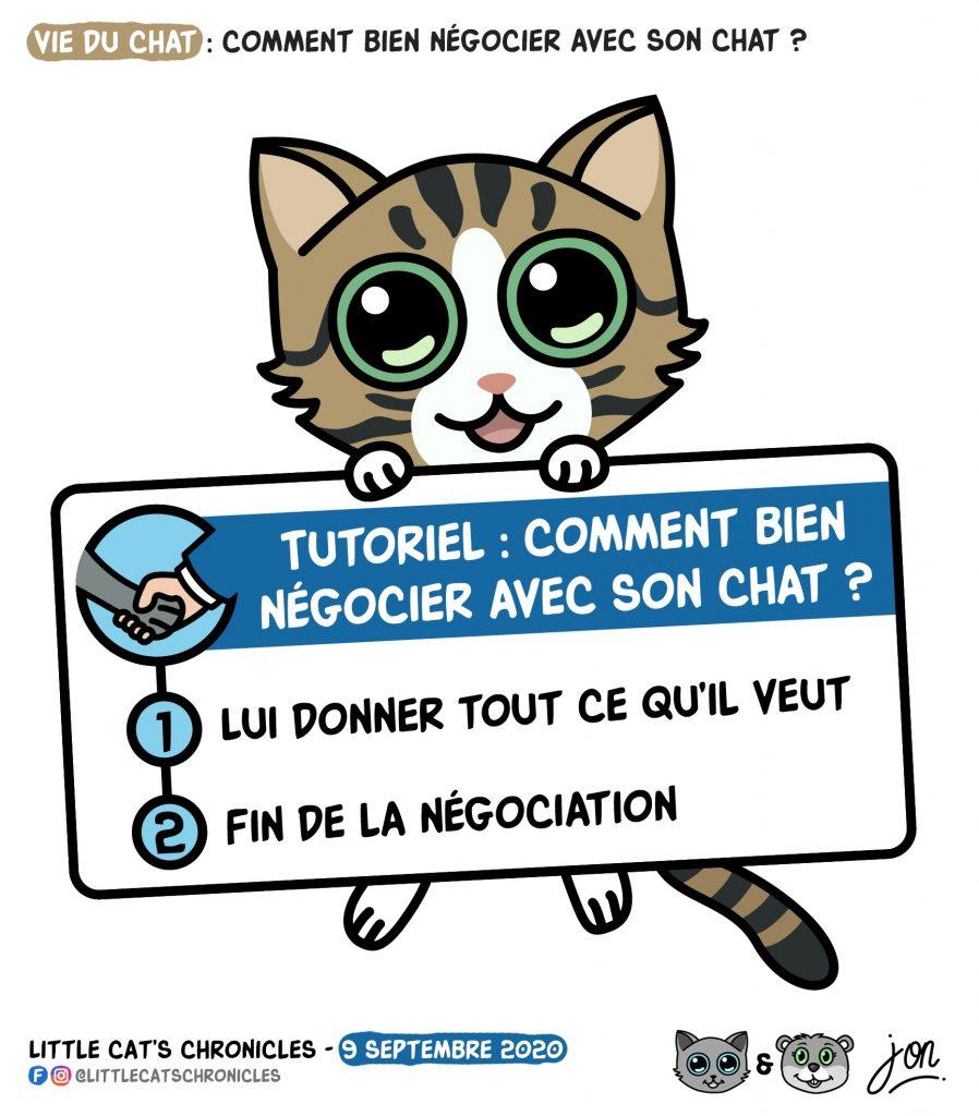 dessin humour image drôle humoristique little cat blague image drôle négociation tutoriel