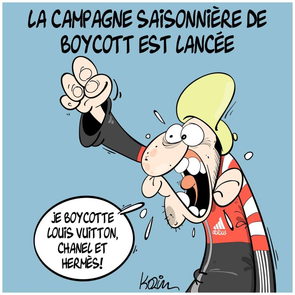 dessin presse humour pays musulmans Algérie image drôle boycott France