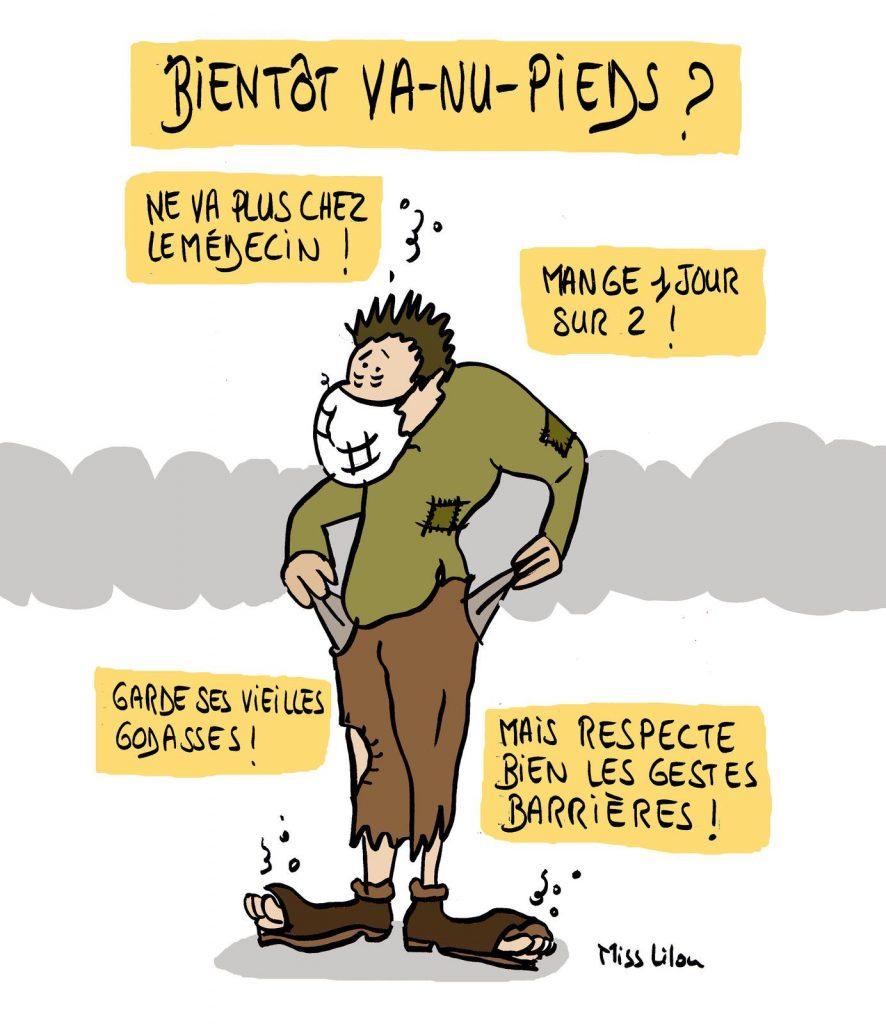 dessin presse humour coronavirus covid19 image drôle crise sociale crise économique