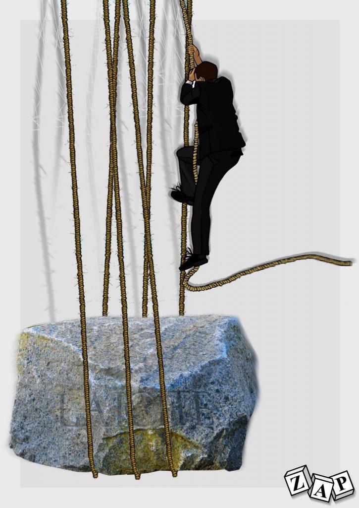 dessin presse humour Emmanuel Macron image drôle poids laïcité