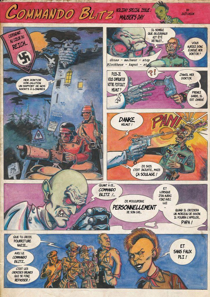 Commando Blitz BD bande dessinée nazi guerre mondiale robots science-fiction parodie
