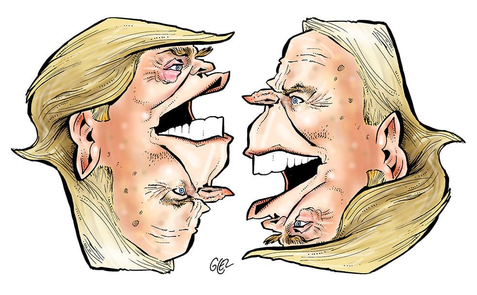 dessin presse humour Donald Trump image drôle Joe Biden