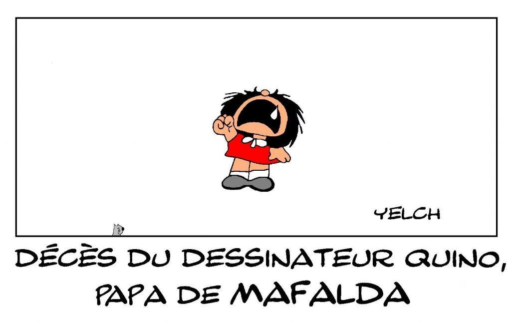 image drôle décès Quino dessin humour Joaquin Salvador Lavado Tejon