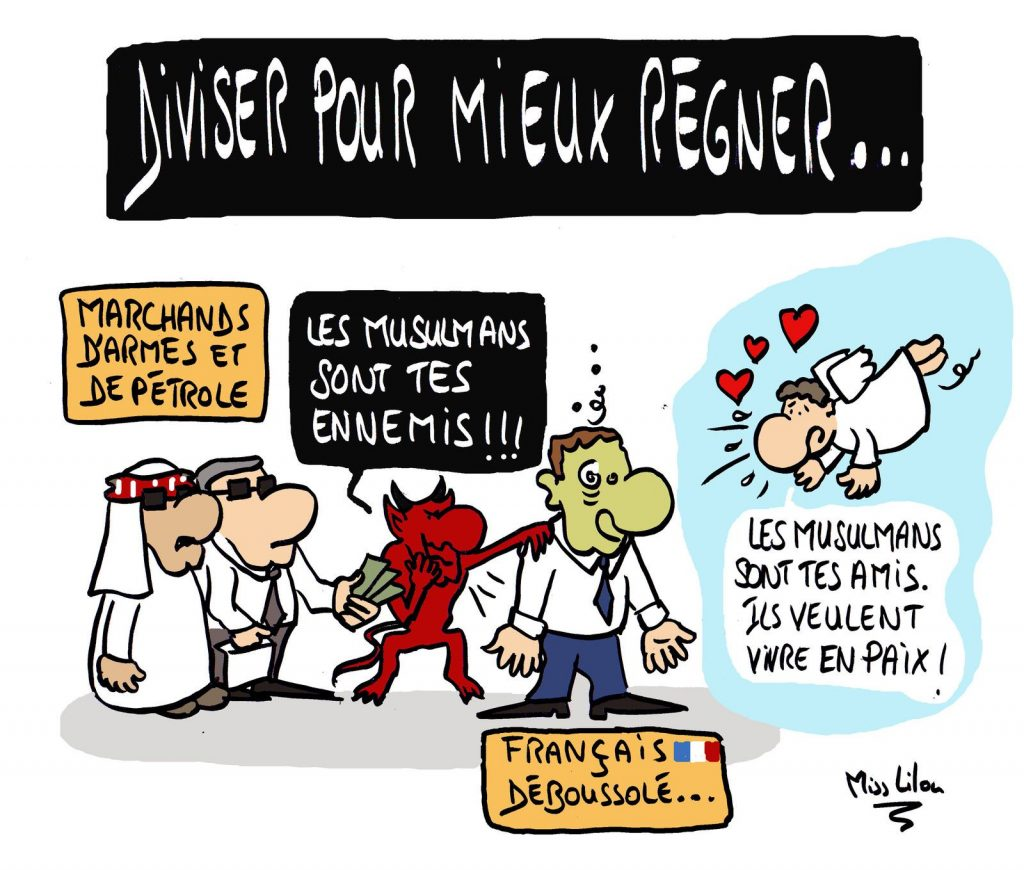 dessin presse humour musulmans islam image drôle séparatisme division