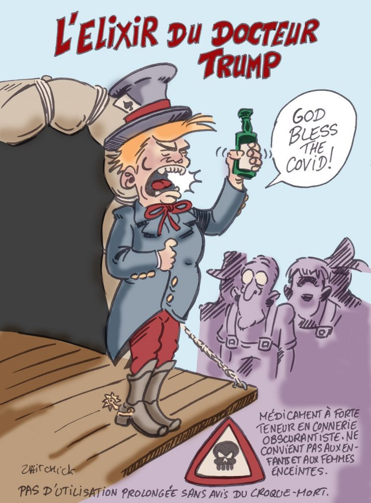 dessin presse humour Donald Trump image drôle États-Unis coronavirus