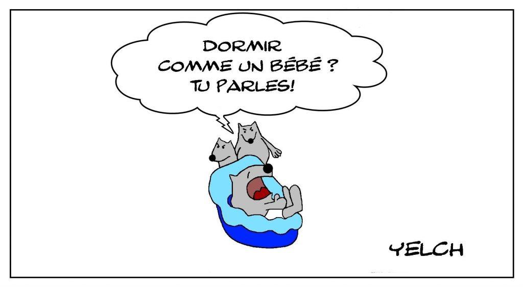 dessins humour dormir bébé image drôle sommeil nuit