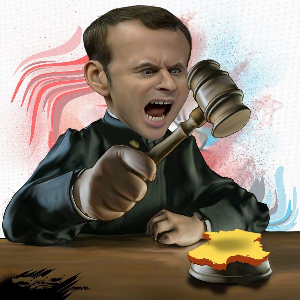 dessin presse humour Emmanuel Macron image drôle France jugement
