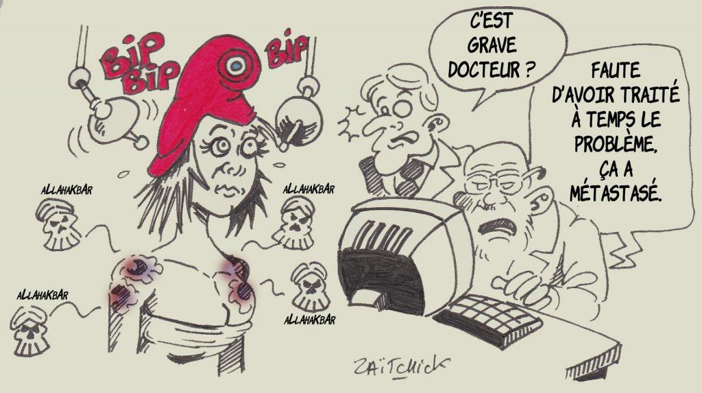 dessin presse humour cancer islamisme image drôle attentat professeur histoire