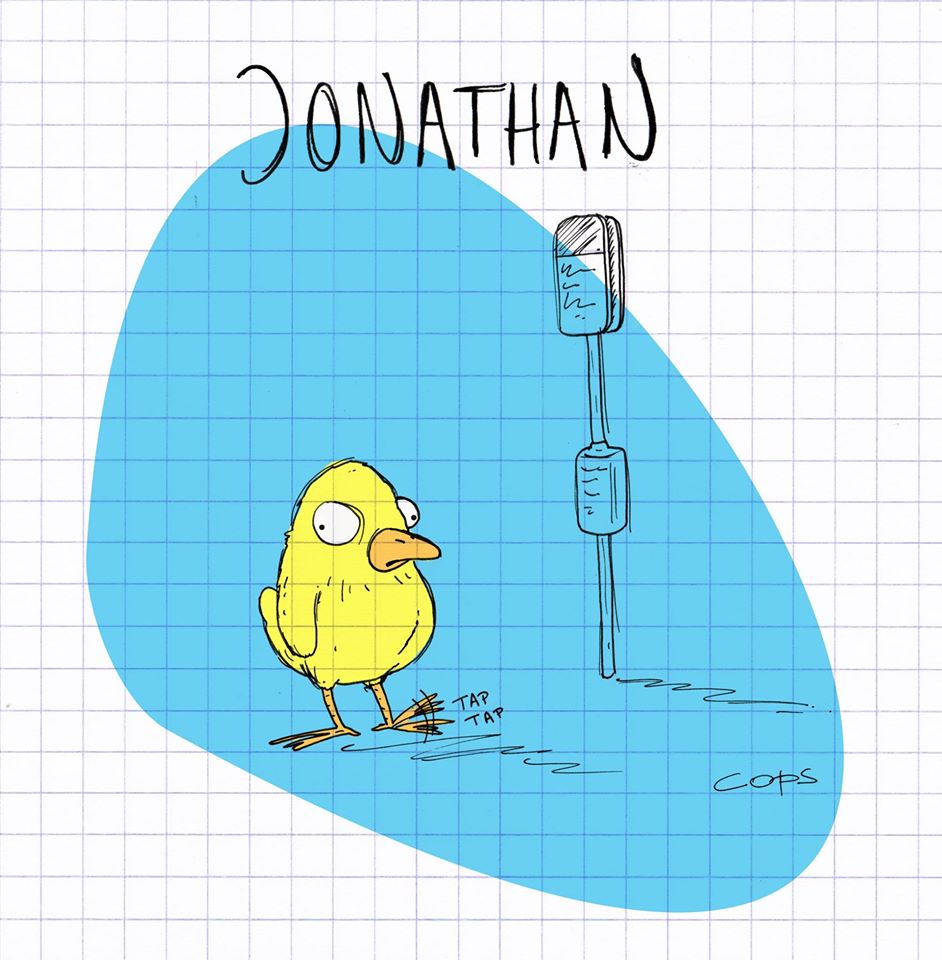 gag image drôle canari jaune dessin blague humour attente