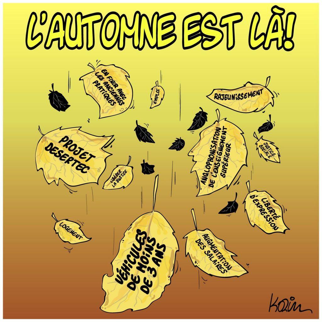 dessin presse humour Algérie automne image drôle justice sociale liberté d'expression