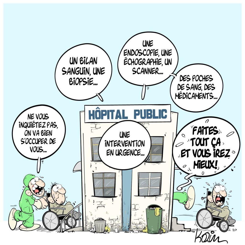 dessin presse humour Algérie santé image drôle hôpital public