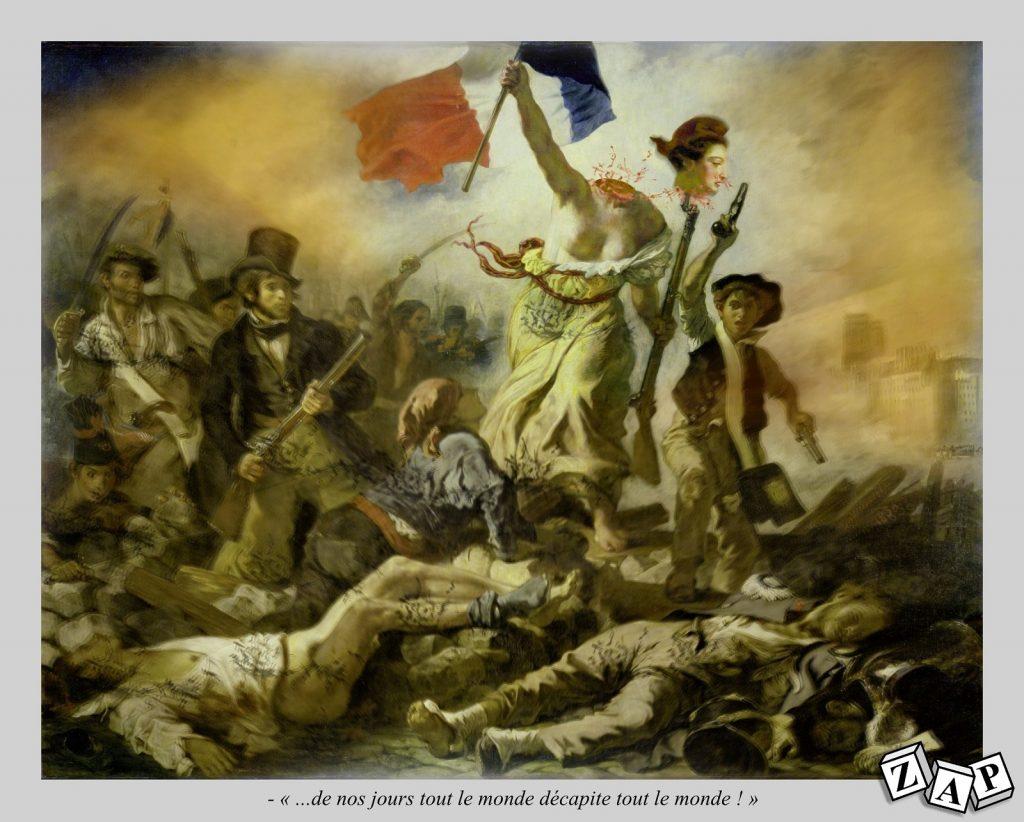 dessin presse humour France Liberté image drôle décapitation professeur histoire