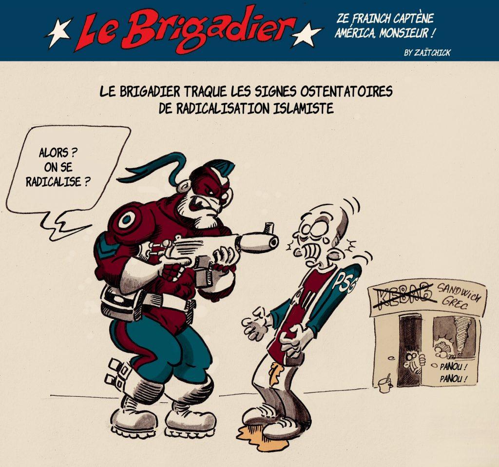 image drôle Le Brigadier dessin humour islamisme radicalisation traque