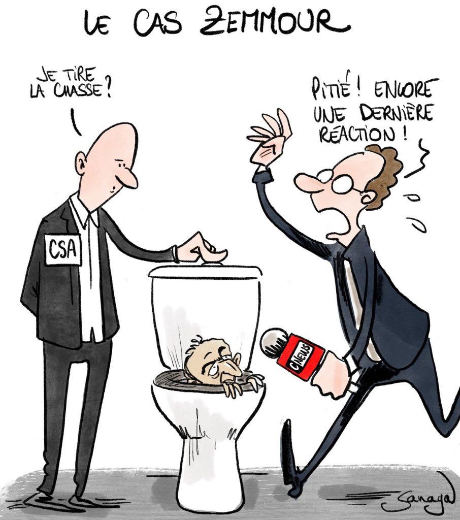 dessin presse humour Éric Zemmour image drôle migrants mineurs non accompagnés