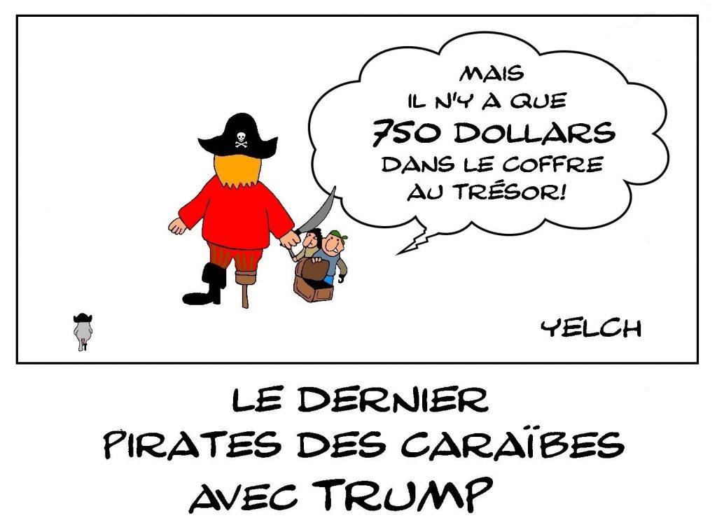 dessins humour Donald Trump image drôle déclaration impôts