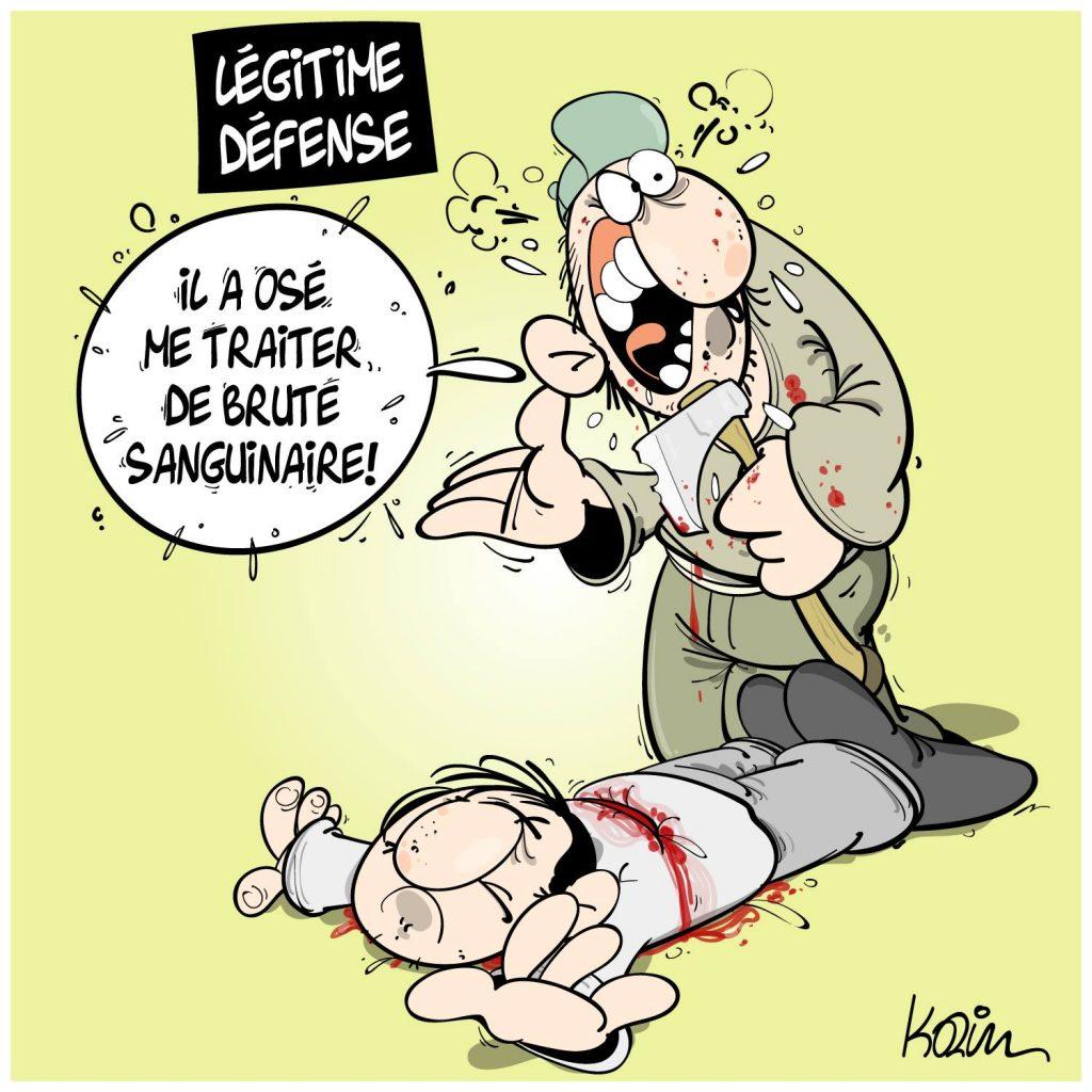 dessin presse humour attentat terrorisme image drôle décapitation Samuel Paty