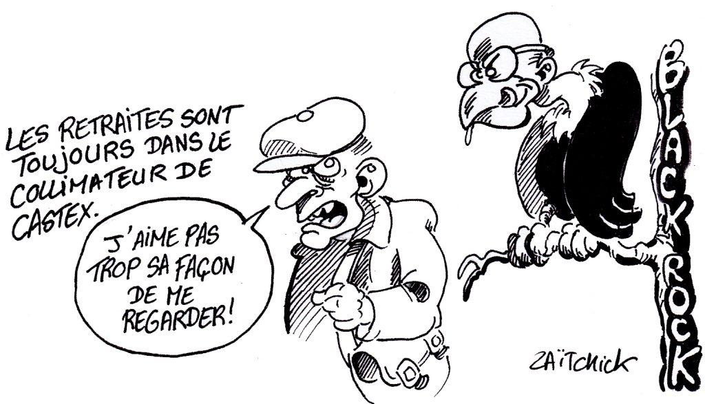 dessin presse humour Jean Castex image drôle réforme retraites