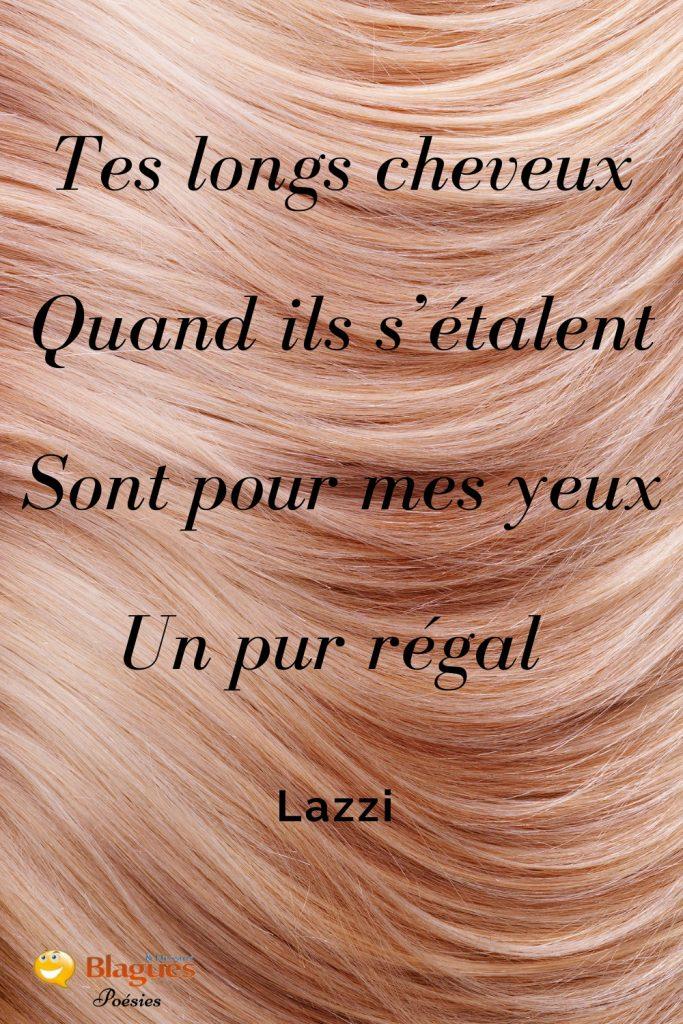 poésie poème Lazzi amour cheveux chevelure