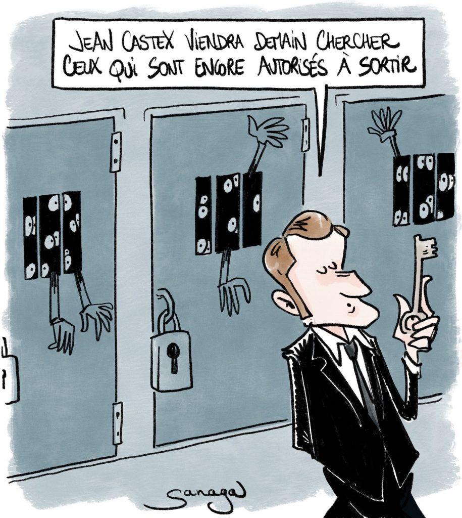 dessin presse humour coronavirus covid19 image drôle confinement Emmanuel Macron