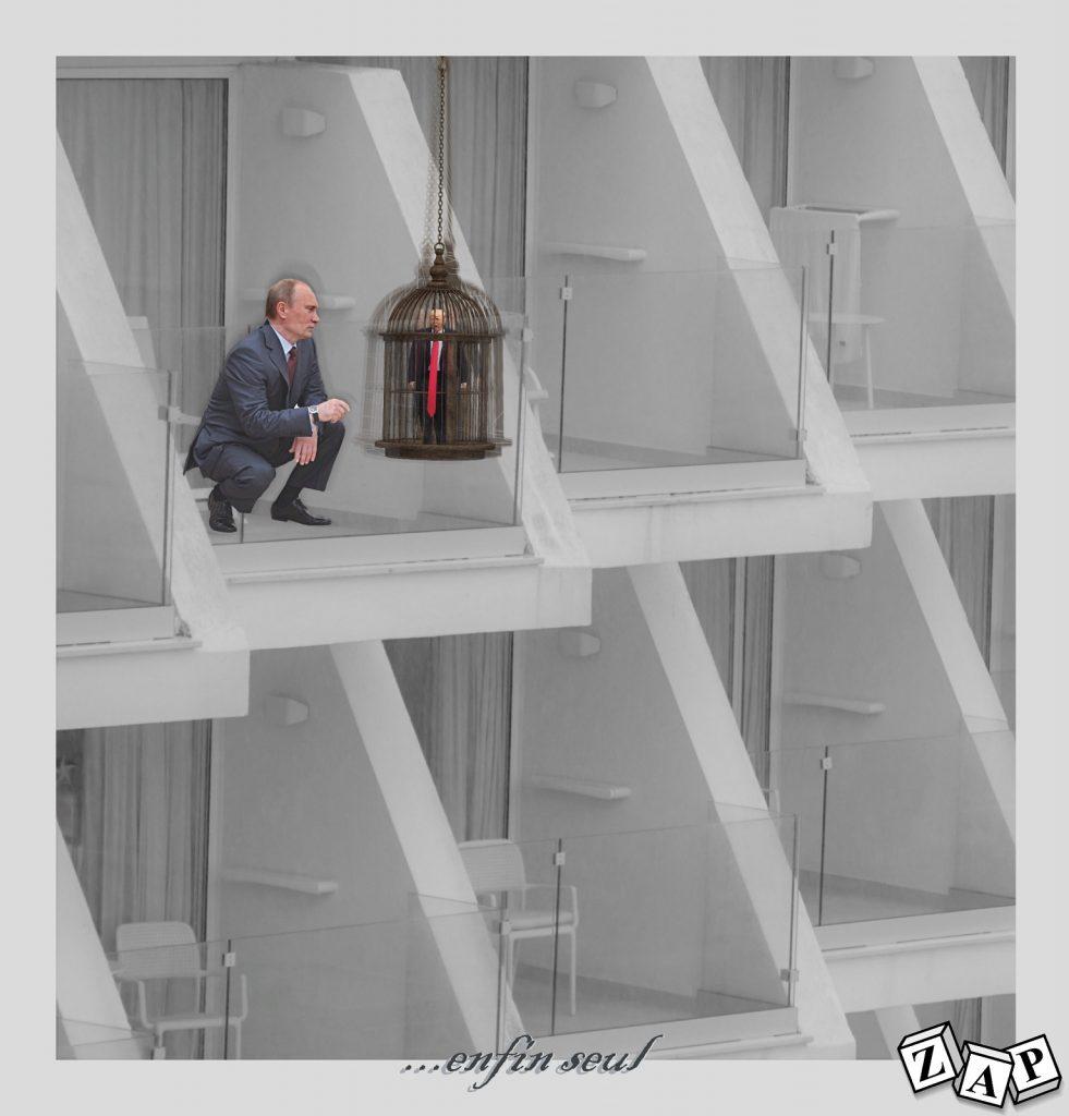 dessin presse humour Donald Trump image drôle Vladimir Poutine