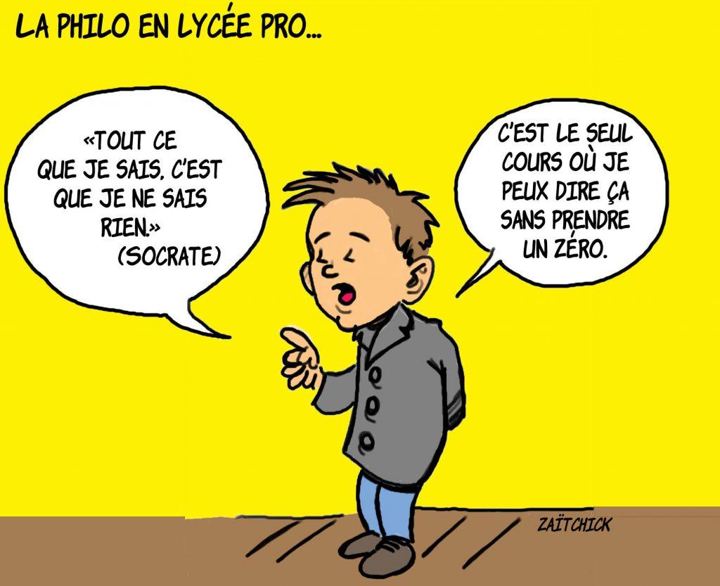 dessin presse humour lycée professionnel image drôle philosophie