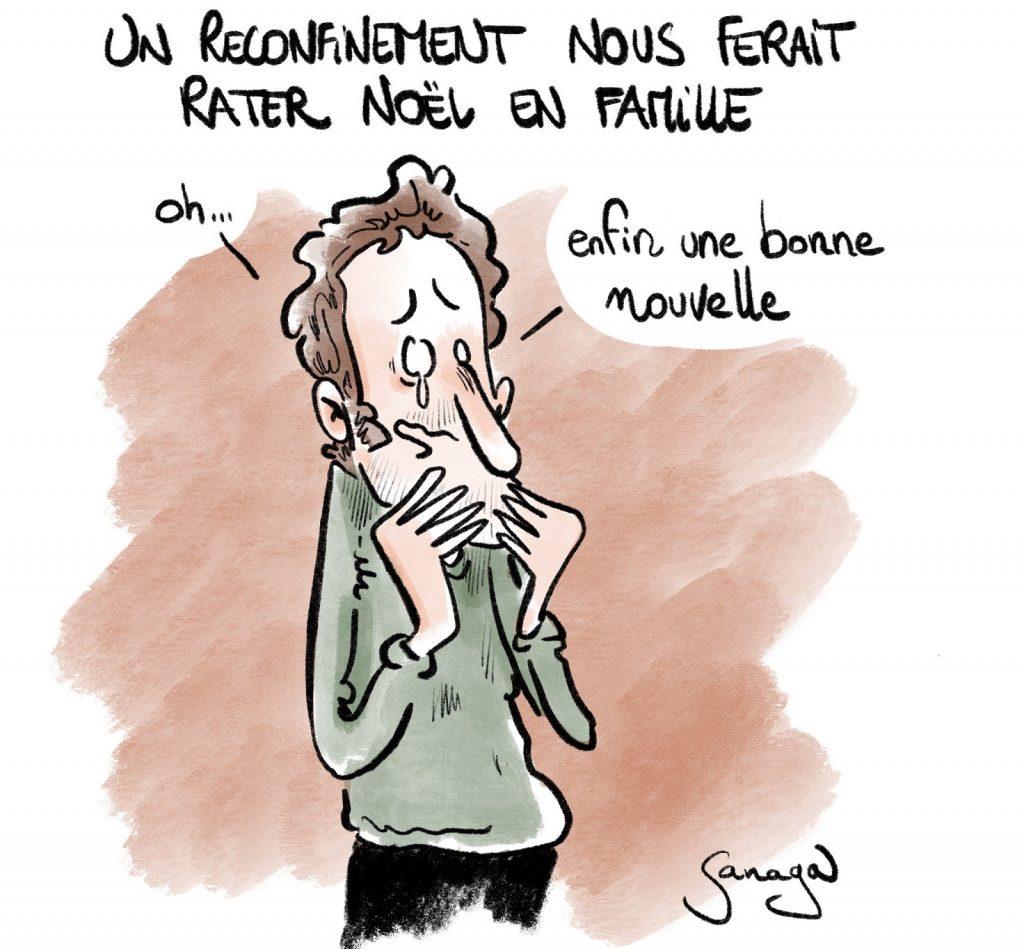 dessin presse humour coronavirus covid19 image drôle reconfinement Noël confinement