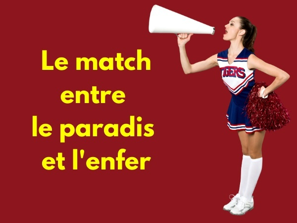 humour, blague sur le Paradis, blague sur l'Enfer, blague sur Saint Pierre, blague sur le football, blague sur les expulsions, blague sur les jurons