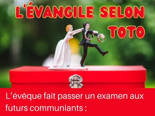 humour blague évêque Toto religion évangélique