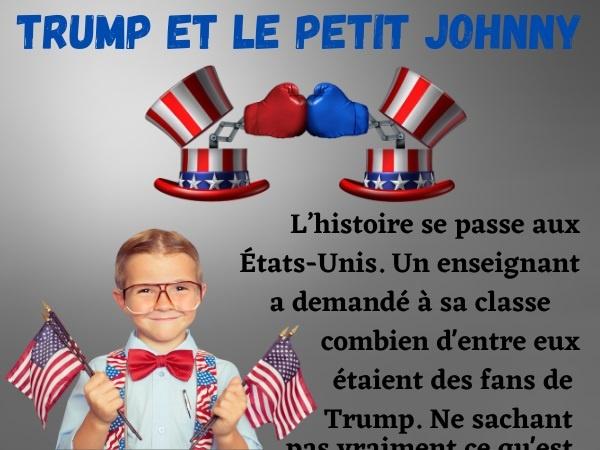 humour blague Donald Trump école États-Unis