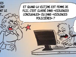 dessin presse humour violences policières image drôle violences conjugales