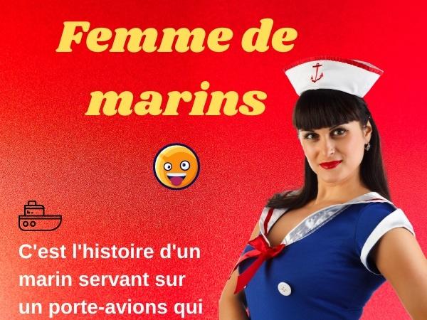 humour, blague sur les couples, blague sur les marins, blague sur l'infidélité, blague sur les femmes de marin, blague sur porte-avions, blague sur les cocus