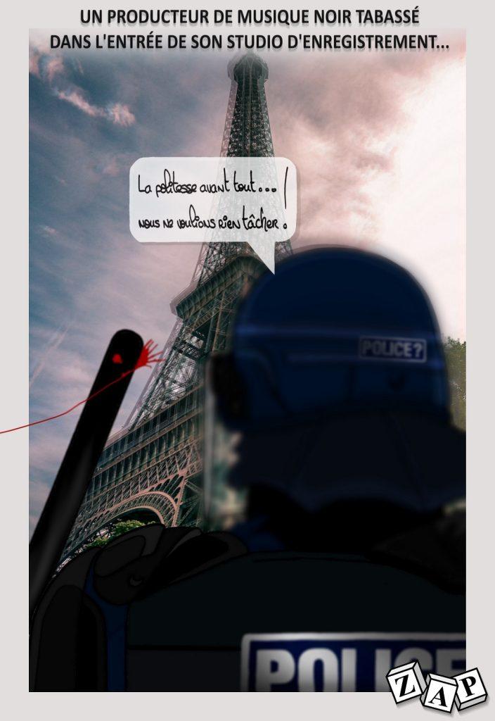dessin presse humour violences policières image drôle Michel Zecler