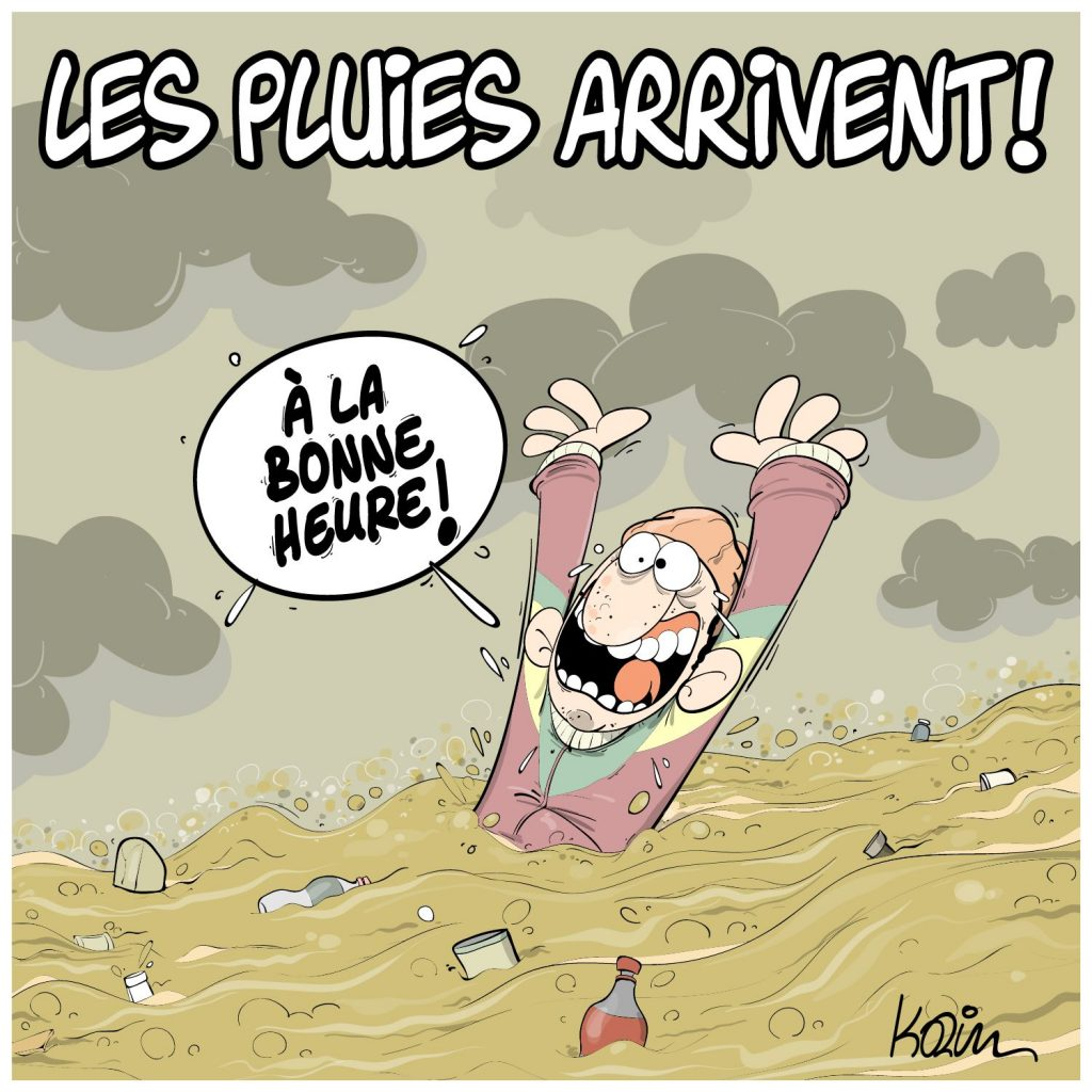 dessin presse humour Algérie météo image drôle pluies inondations