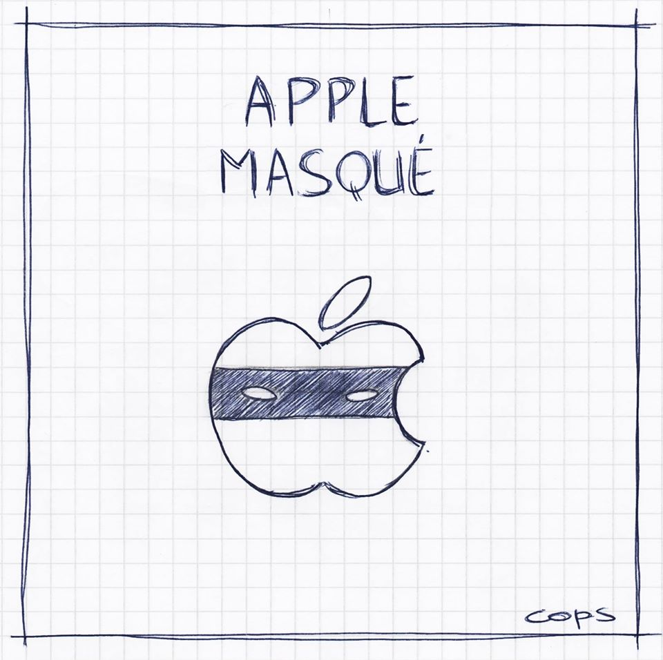 gag image drôle Apple dessin blague humour appel masqué