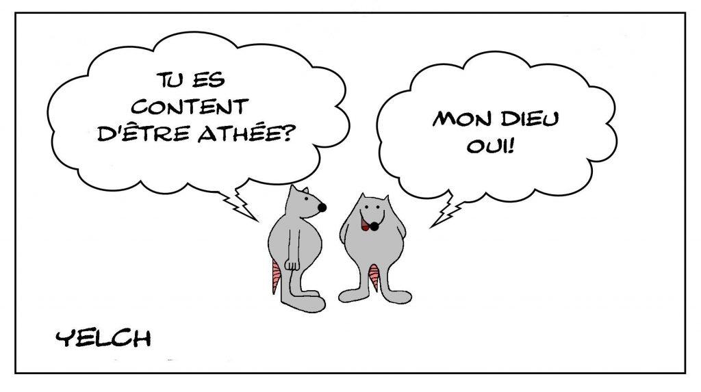 image drôle philosophie dessin humour religion athéisme