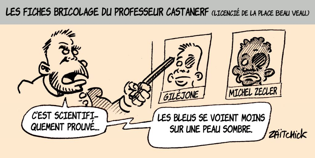 dessin presse humour Christophe Castaner image drôle violences policières racisme