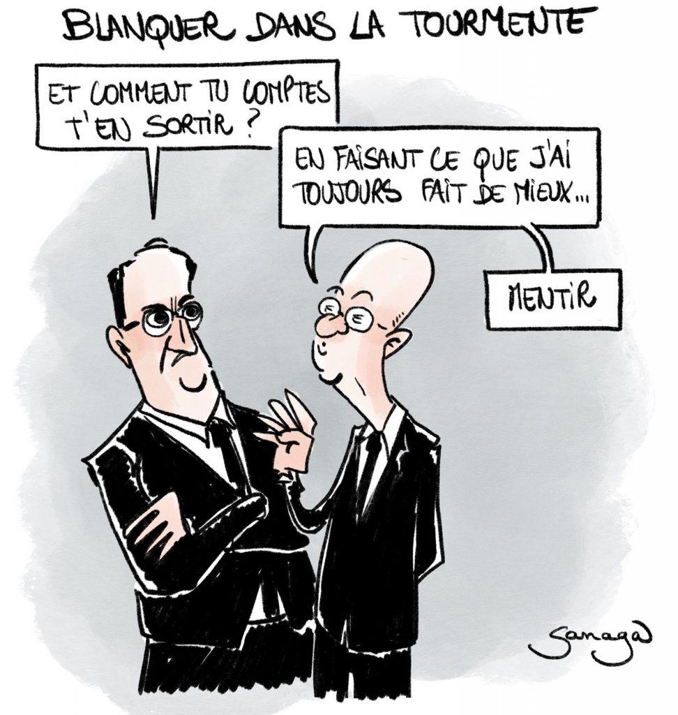 dessin presse humour coronavirus Jean Castex image drôle Jean-Michel Blanquer