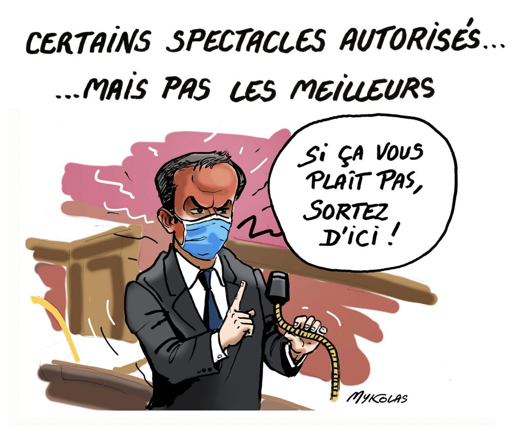 image drôle coronavirus covid-19 confinement dessin humour colère Olivier Véran Assemblée Nationale