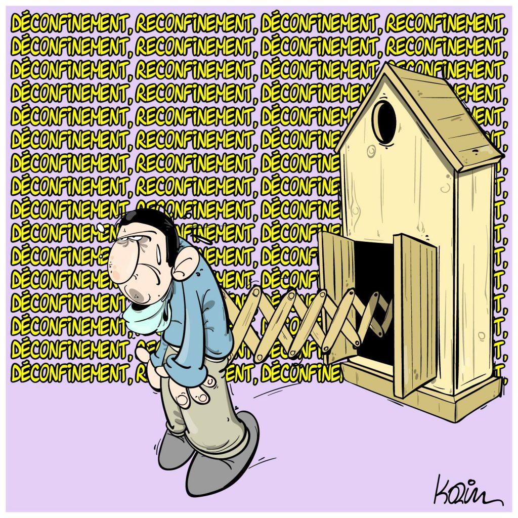 dessin presse humour coronavirus covid19 image drôle déconfinement reconfinement
