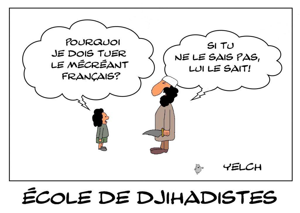 dessins humour islamisme djihadisme image drôle mécréants français fanatisme