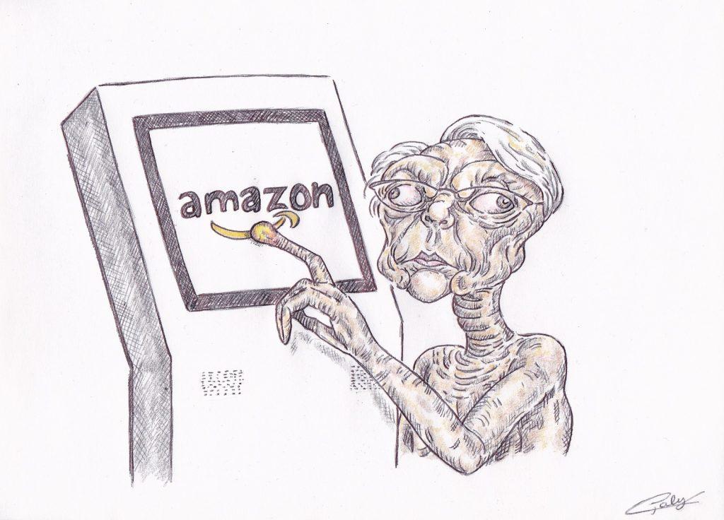 image drôle Elisabeth Borne dessin humour coronavirus confinement Amazon