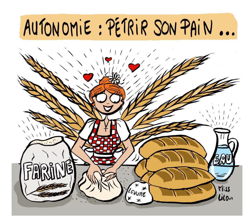 dessin presse humour autonomie pain image drôle collapsologie effondrement
