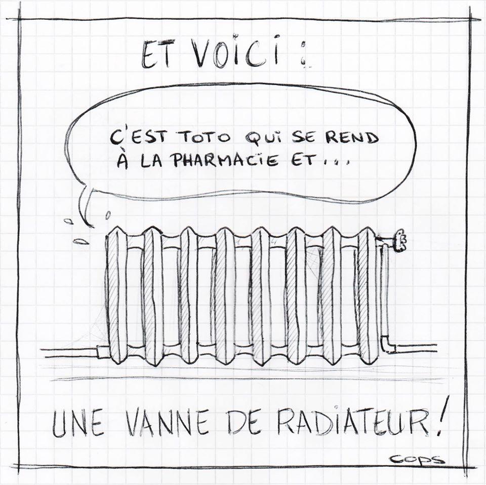 gag image drôle vannes dessin blague humour radiateur