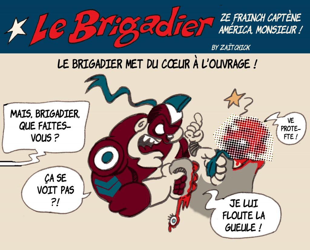 image drôle Le Brigadier dessin humour loi sécurité globale violences policières
