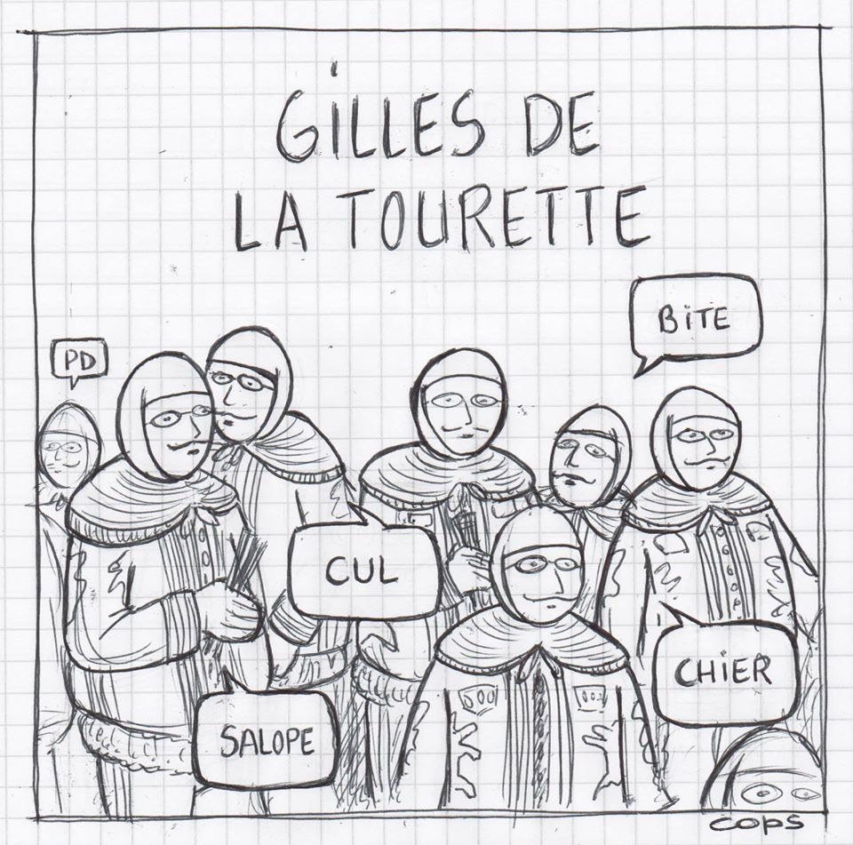gag image drôle carnaval Binche dessin blague humour Gilles de la Tourette