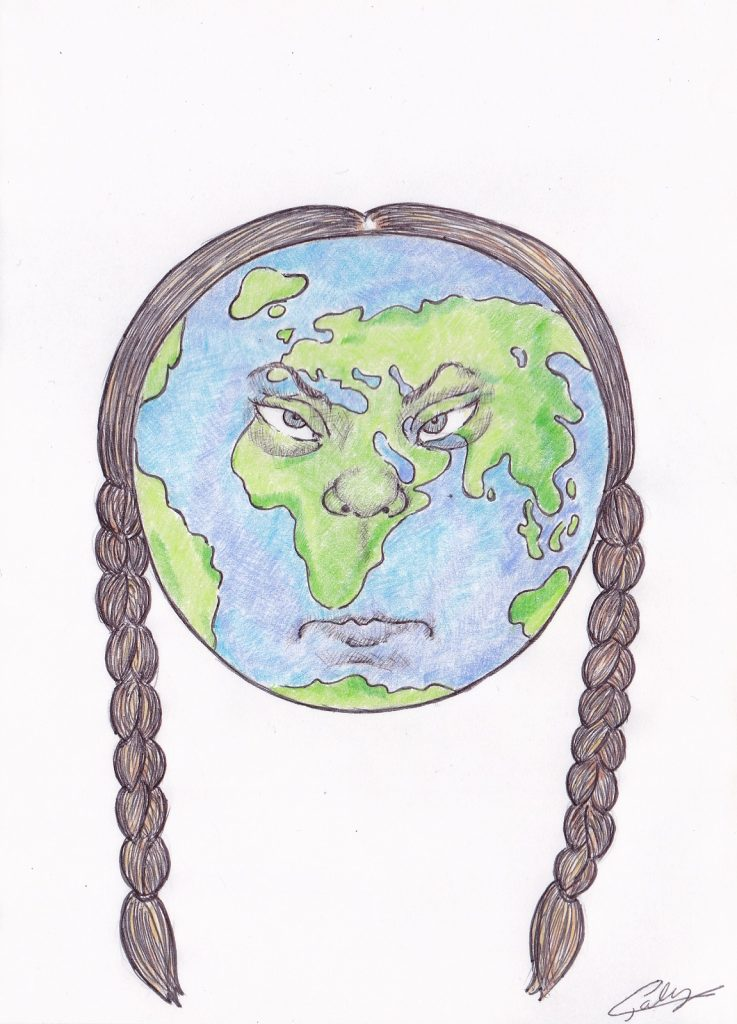 image drôle Greta Thunberg dessin humour Terre