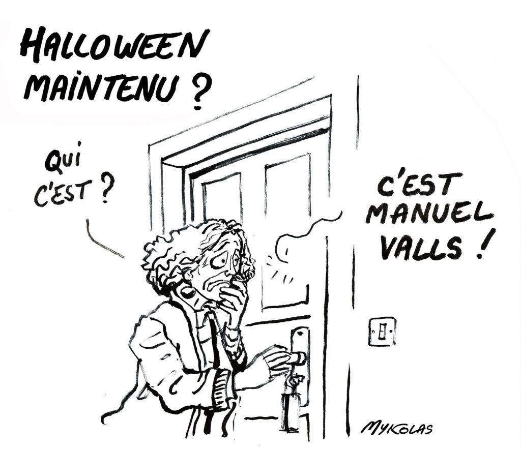 image drôle Halloween dessin humour Manuel Valls