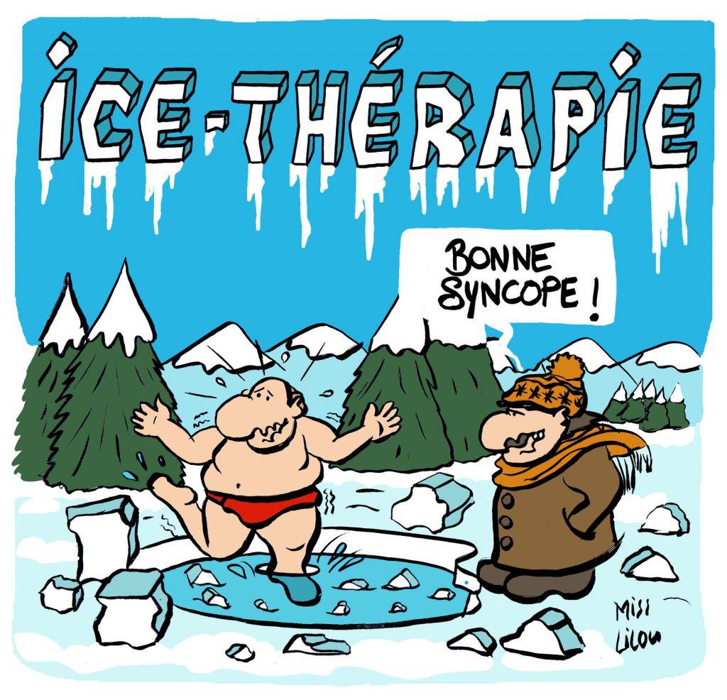 dessin presse humour ice thérapie image drôle froid syncope